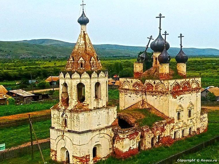 Забайкалье. Церковь Успения Пресвятой Богородицы в селе Калинино